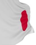3D Japanese flag Stock Photo