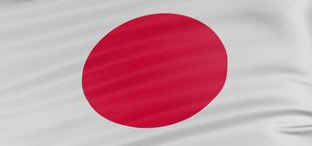 3D Japanese flag Royalty Free Stock Image