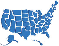 3d jednoczący mapa stan ilustracja wektor