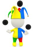 3D jester or clown Royalty Free Stock Photo