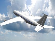 3d Jet airliner. Stock Photography