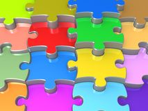 3D Jigsaw Puzzle. Computer Generated Image - 3D Jigsaw Puzzle Royalty Free Stock Photography