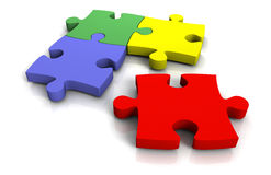 3d jigsaw puzzle Stock Image