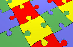 3d jigsaw puzzle Royalty Free Stock Image