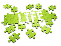 3d Jigsaw puzzle Stock Photo