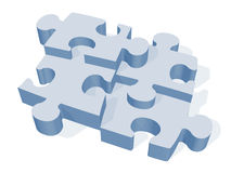 3D Jigsaw Puzzle Stock Images