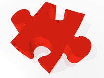 3D Jigsaw Puzzle Piece Stock Photography