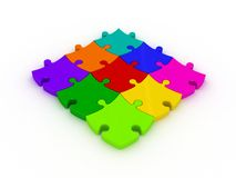 3D Jigsaws Royalty Free Stock Images