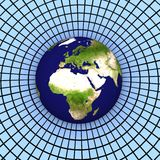3d jord Europa Arkivbild