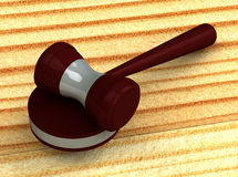 3d judge gavel Stock Images