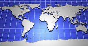 3d Kaart van de Aarde Royalty-vrije Stock Foto's