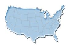 3D Kaart van de V.S. Royalty-vrije Stock Afbeelding