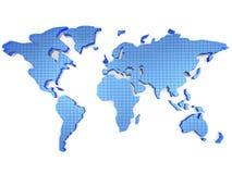 3d kaart van de Wereld Stock Fotografie