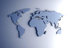 3D kaart van de Wereld Royalty-vrije Stock Afbeelding