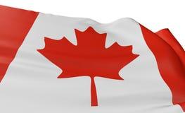 3D Kanada Markierungsfahne Lizenzfreie Stockbilder