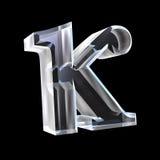 3D Kappa symbol in glass Stock Photo