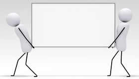 [3D karły seria] Niosący biały deskę Obrazy Stock