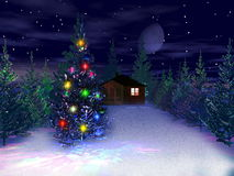 3d Kerstmis en nieuw jaar Stock Afbeelding