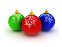 3d Kerstmisballen vector illustratie