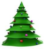 3D Kerstmisboom van het Beeldverhaal Royalty-vrije Stock Afbeelding