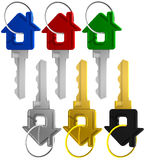 3d key Royalty Free Stock Images