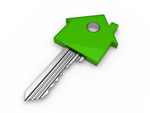 3d key home house green Stock Image