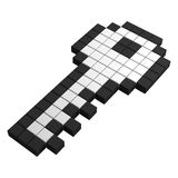 3d key pixel icon. Black and white illustration Royalty Free Stock Image