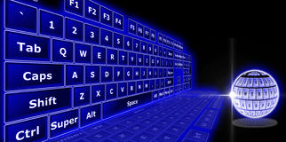 3D keyboard Stock Image