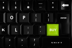 3d keyboard with a buy key Royalty Free Stock Image