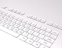 3D Keyboard on white background Royalty Free Stock Images