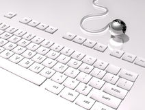 3D Keyboard on white background Royalty Free Stock Photo