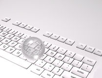 3D Keyboard on white background Stock Images