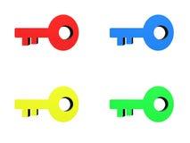 3D Keys Stock Photo
