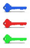 3D Keys Royalty Free Stock Photos