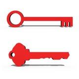 3D Keys Royalty Free Stock Photos