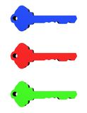 3D Keys Royalty Free Stock Images
