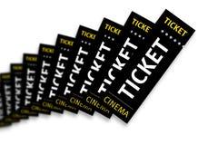 3d kino odpłaca się bilety Fotografia Royalty Free