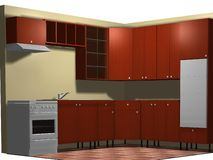 3d kitchen Stock Photography