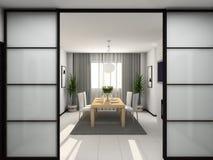 3d kitchen modern render Στοκ Εικόνες
