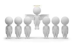 3d kleine Leute - Engel lizenzfreie abbildung