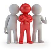 3d kleine Leute - Führer eines Teams lizenzfreie abbildung