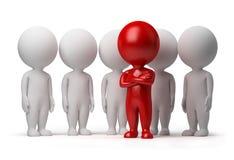 3d kleine Leute - Führer eines Teams Stockfoto