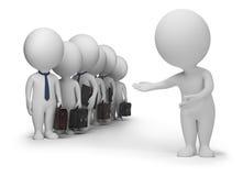 3d kleine Leute - Klienten Lizenzfreie Stockbilder