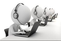 3d kleine Leute - Kundenkontaktcenter Lizenzfreies Stockfoto