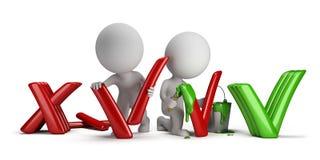 3d kleine Leute - Negativ zum Positiv Lizenzfreie Stockfotos