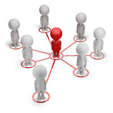 3d kleine Leute - Partnernetz Lizenzfreie Stockfotos
