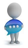 3d kleine Leute - Schwätzchenikone vektor abbildung