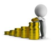3d kleine mensen - financieel succes Stock Foto