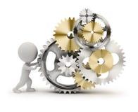 3d kleine mensen - mechanisme Stock Foto