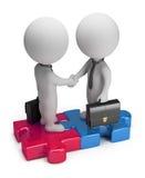 3d kleine mensen - overeenkomst Stock Fotografie